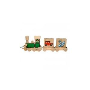 Vlak puzzle - dopravní prostředky