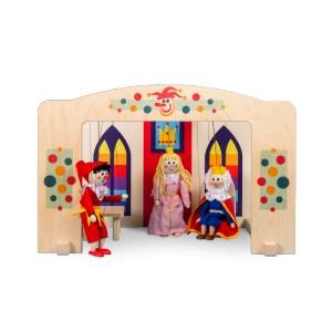 Loutkové divadlo dřevěné pro loutky 20 cm