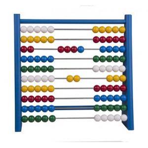 Počítadlo dřevěné s UH kuličkami modré