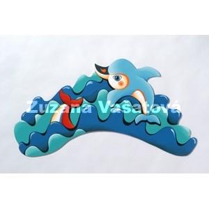 Vlna s delfínem